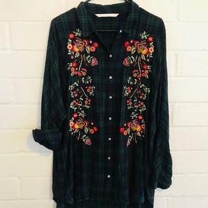 NWOT! Zara Trafaluc Collection Flannel Top!
